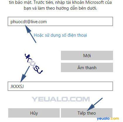 Hướng dẫn cách lấy lại tài khoản Microsoft 2