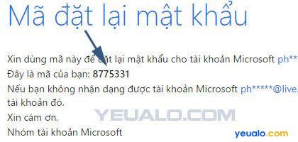 Hướng dẫn cách lấy lại tài khoản Microsoft 4