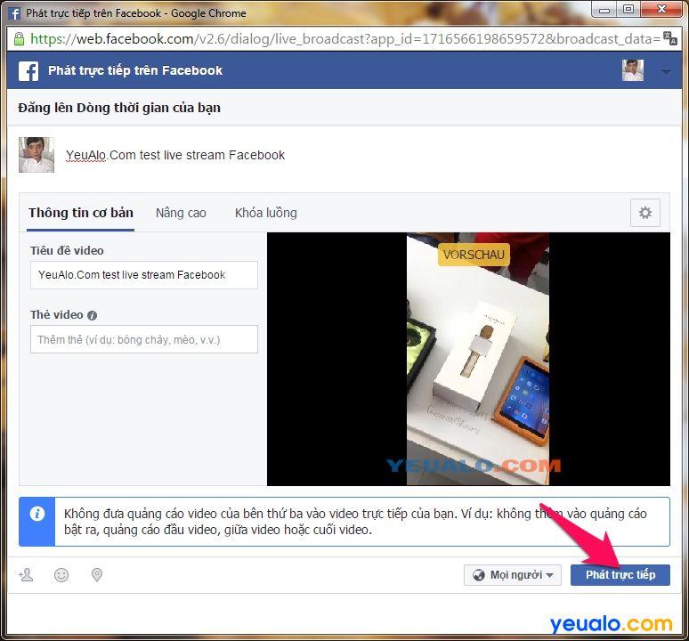 Cách Live Stream Facebook trên máy tính mới nhất 11