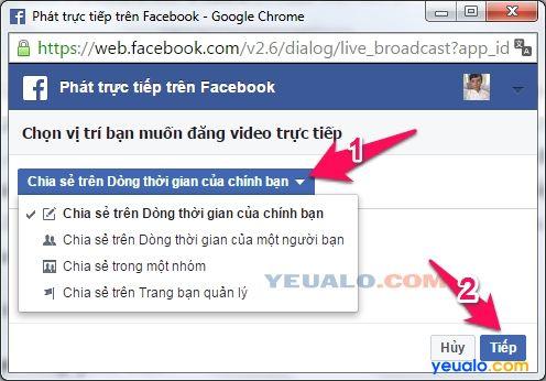 Cách Live Stream Facebook trên máy tính mới nhất 5