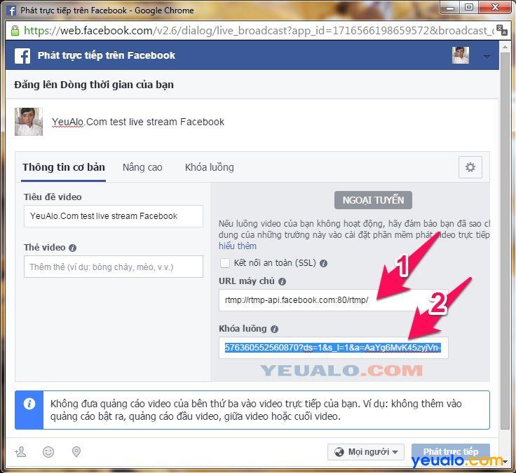 Cách Live Stream Facebook trên máy tính mới nhất 7