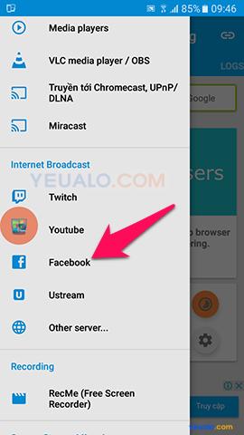 Hướng dẫn cách Live Stream màn hình điện thoại lên Facebook 2