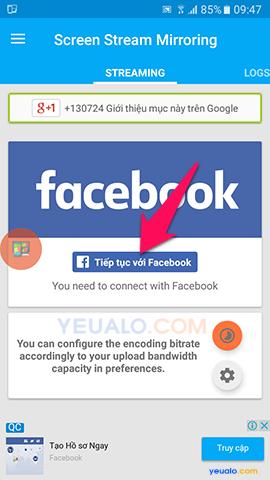 Hướng dẫn cách Live Stream màn hình điện thoại lên Facebook 3