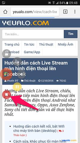 Hướng dẫn cách Live Stream màn hình điện thoại lên Facebook 5