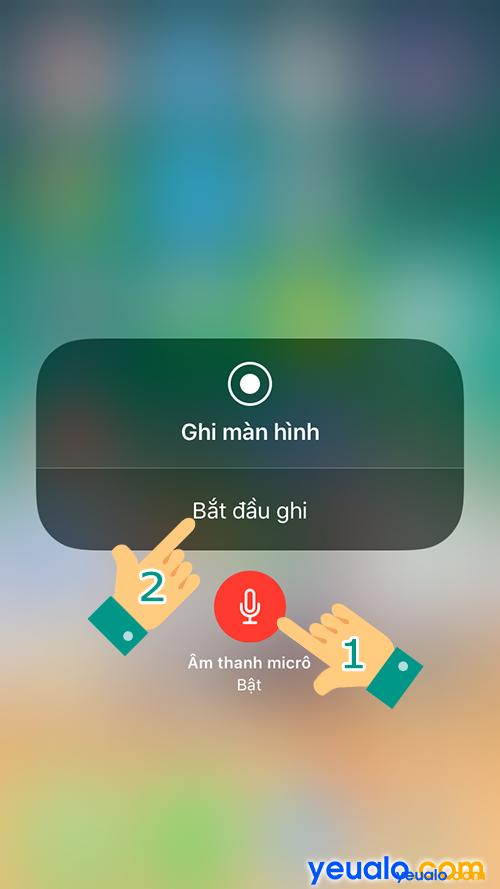 quay màn hình iPhone bị mất tiếng 7