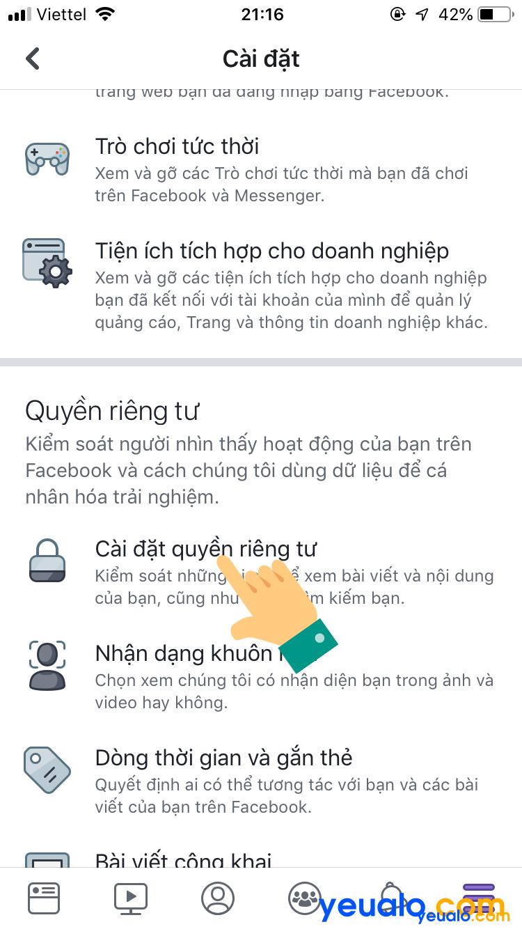 Cách ẩn danh sách bạn bè Facebook trên iPhone 3