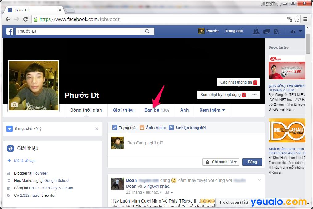Cách ẩn dấu danh sách bạn bè trên Facebook
