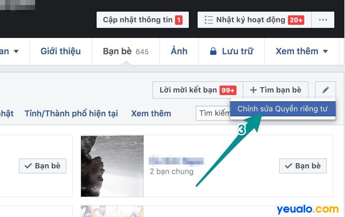 Cách ẩn danh sách mình Đang theo dõi ai trên Facebook 2