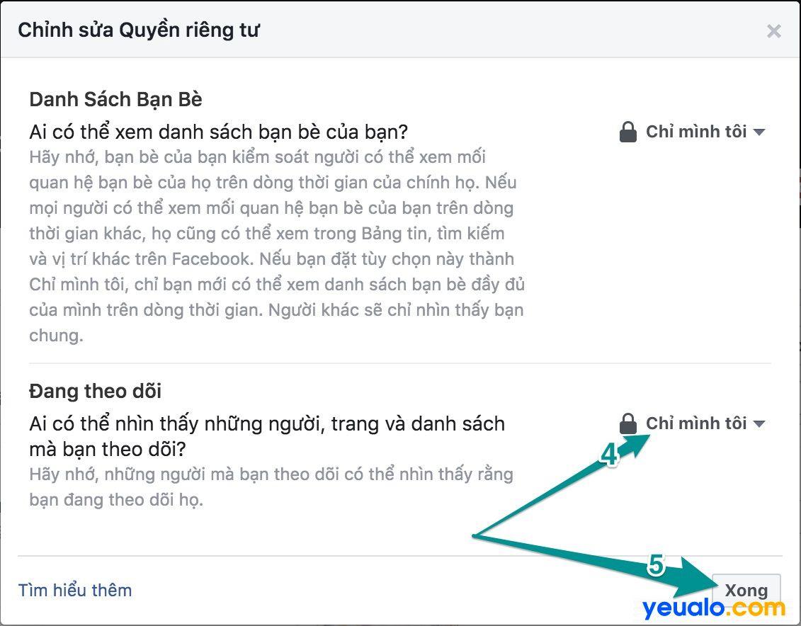 Cách ẩn danh sách mình Đang theo dõi ai trên Facebook 3