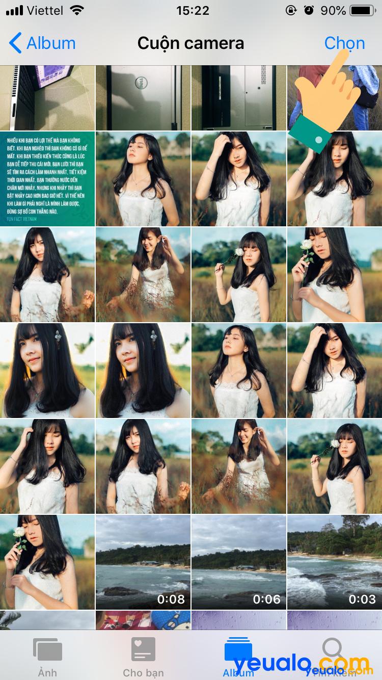 Cách ẩn hình ảnh trên iPhone 2