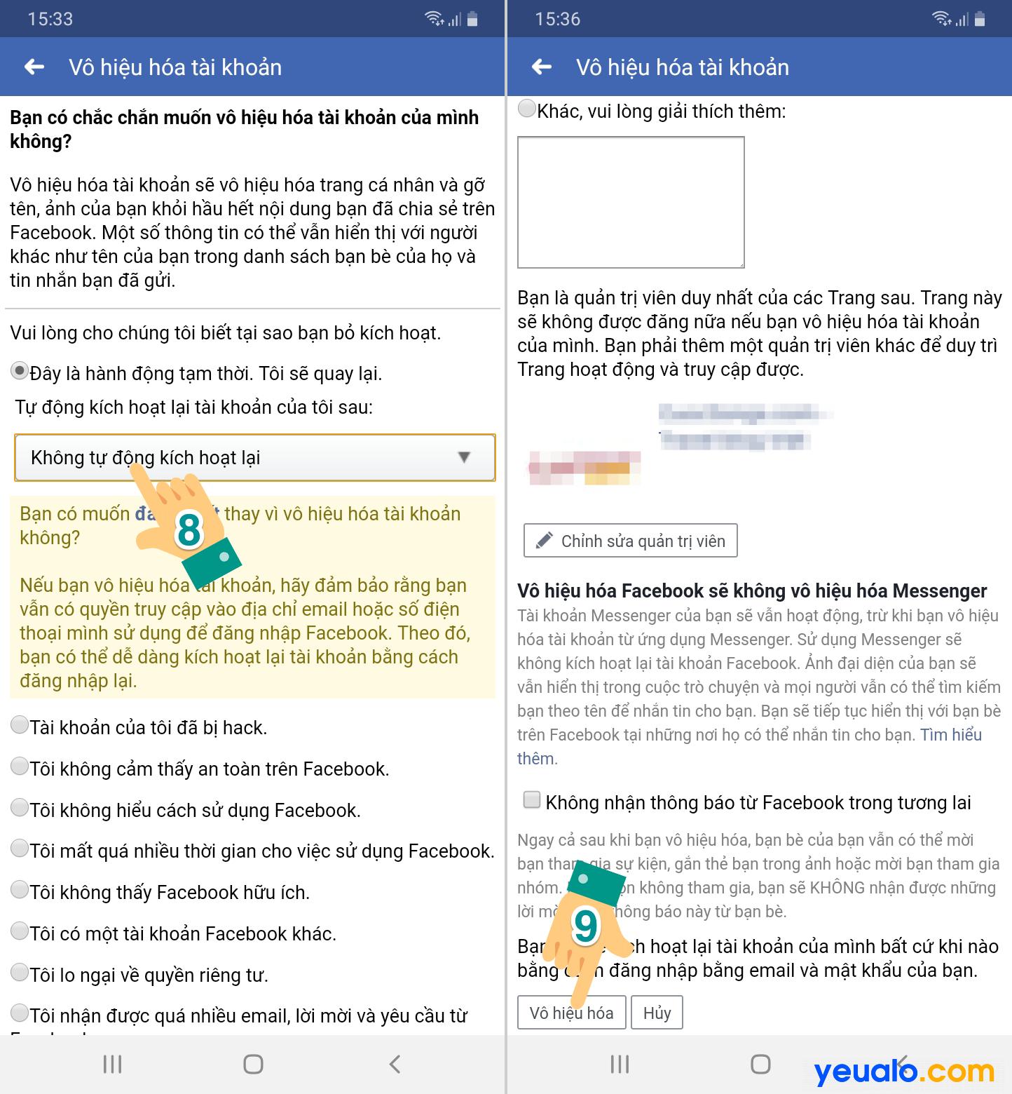 Cách ẩn nick Facebook không cho người khác tìm thấy trên điện thoại 4
