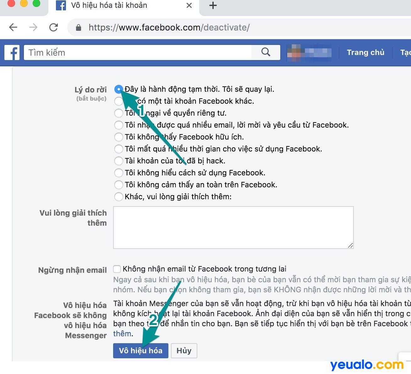 Cách ẩn nick Facebook không cho người khác tìm thấy trên máy tính