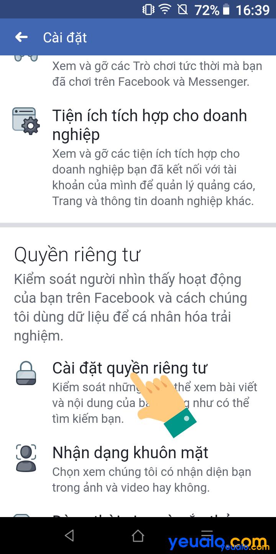 Cách ẩn nút kết bạn Facebook bằng điện thoại 4
