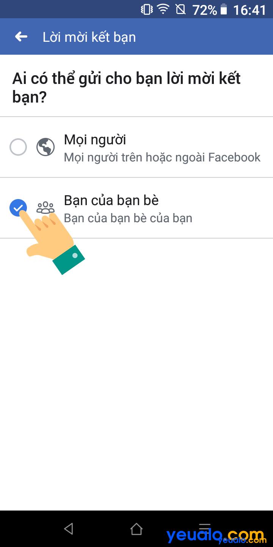 Cách ẩn nút kết bạn Facebook bằng điện thoại 6