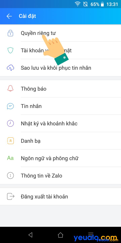 Cách ẩn số điện thoại trên Zalo 3