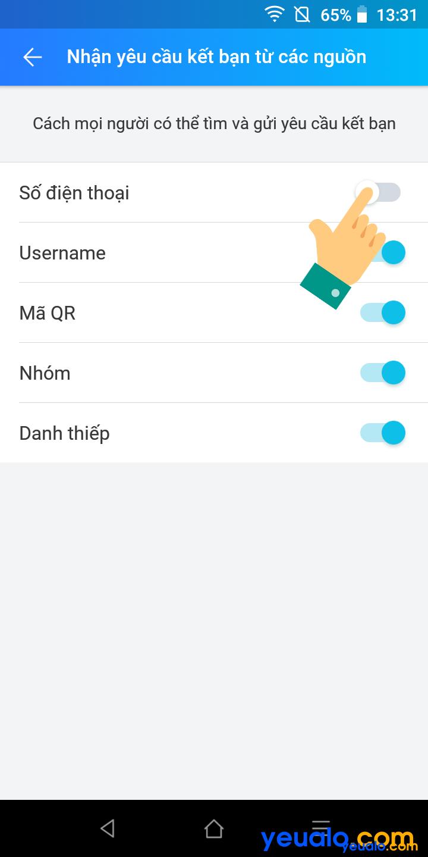 Cách ẩn số điện thoại trên Zalo 5