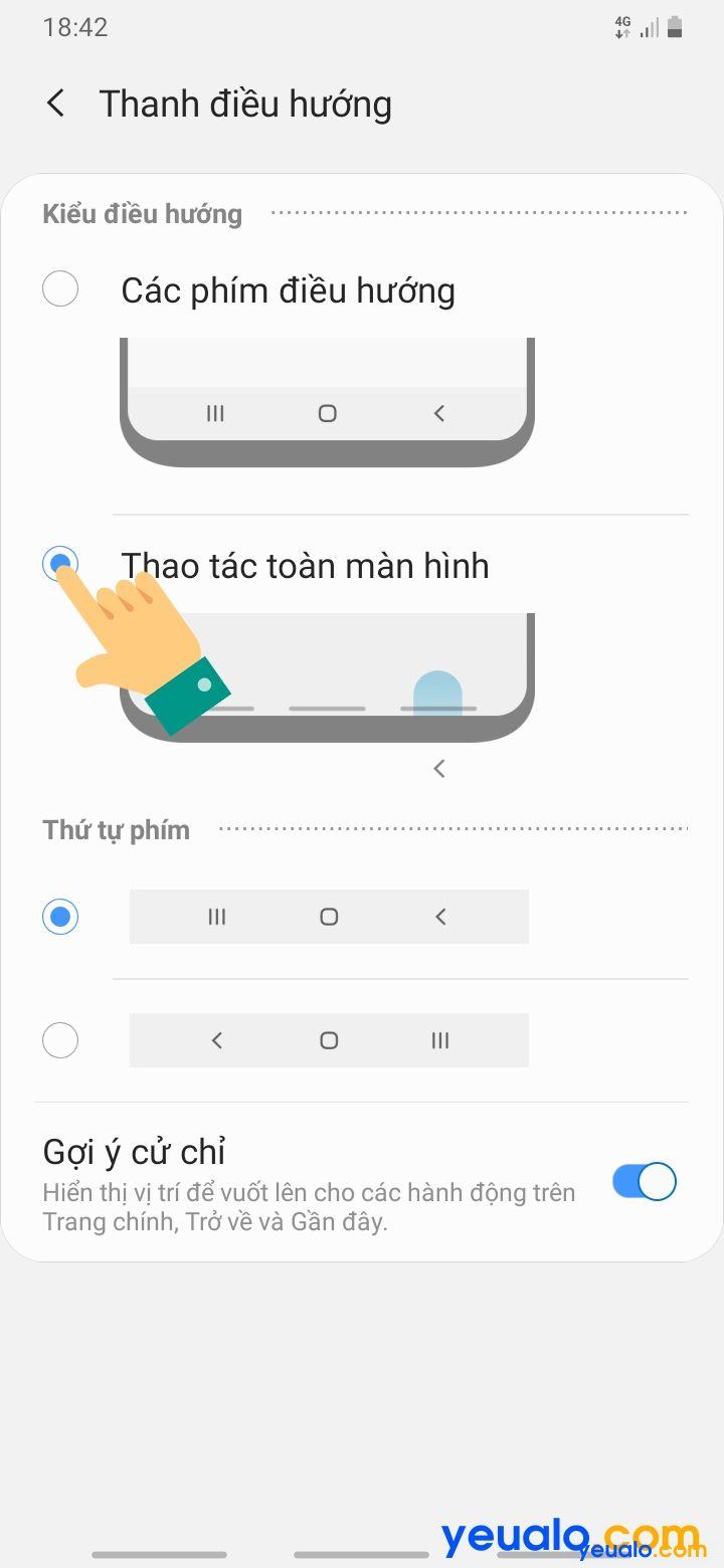 Cách ẩn thanh điều hướng Samsung 4