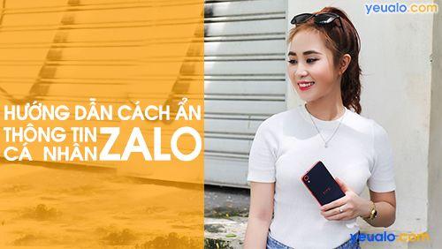 Hướng dẫn cách ẩn thông tin cá nhân trên Zalo