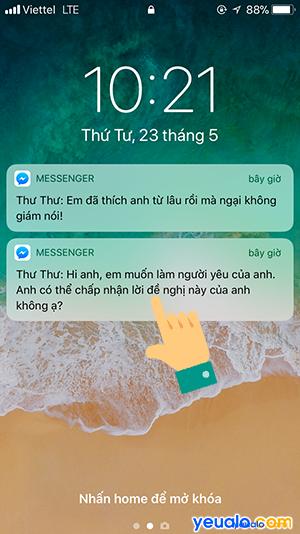 Cách ẩn tin nhắn Messenger trên màn hình khóa iPhone 1