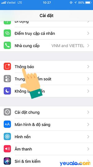 Cách ẩn tin nhắn Messenger trên màn hình khóa iPhone 3