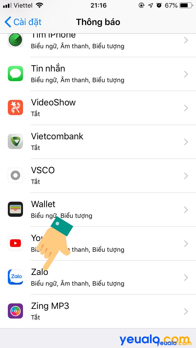 Cách ẩn tin nhắn Zalo trên màn hình khóa iPhone 4