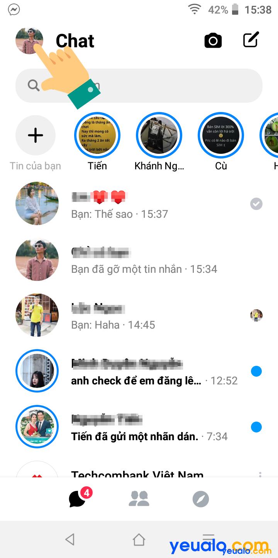 Cách bật bong bóng chat trên Messenger 2