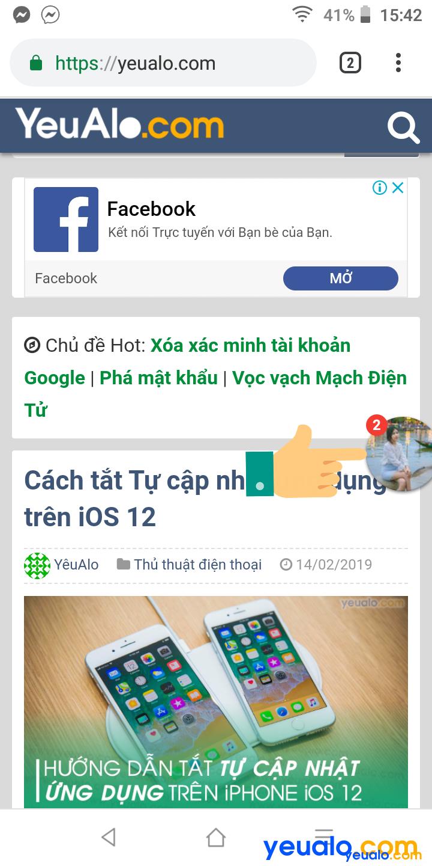 Cách bật bong bóng chat trên Messenger 4