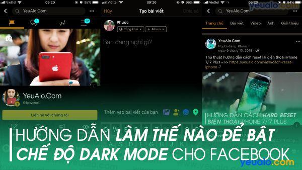 Cách bật chế độ Dark Mode cho Facebook trên Android, Samsung, Oppo…