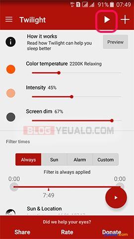 Cách bật chế độ ban đêm cho điện thoại Android 1