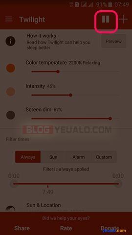 Cách bật chế độ ban đêm cho điện thoại Android 2