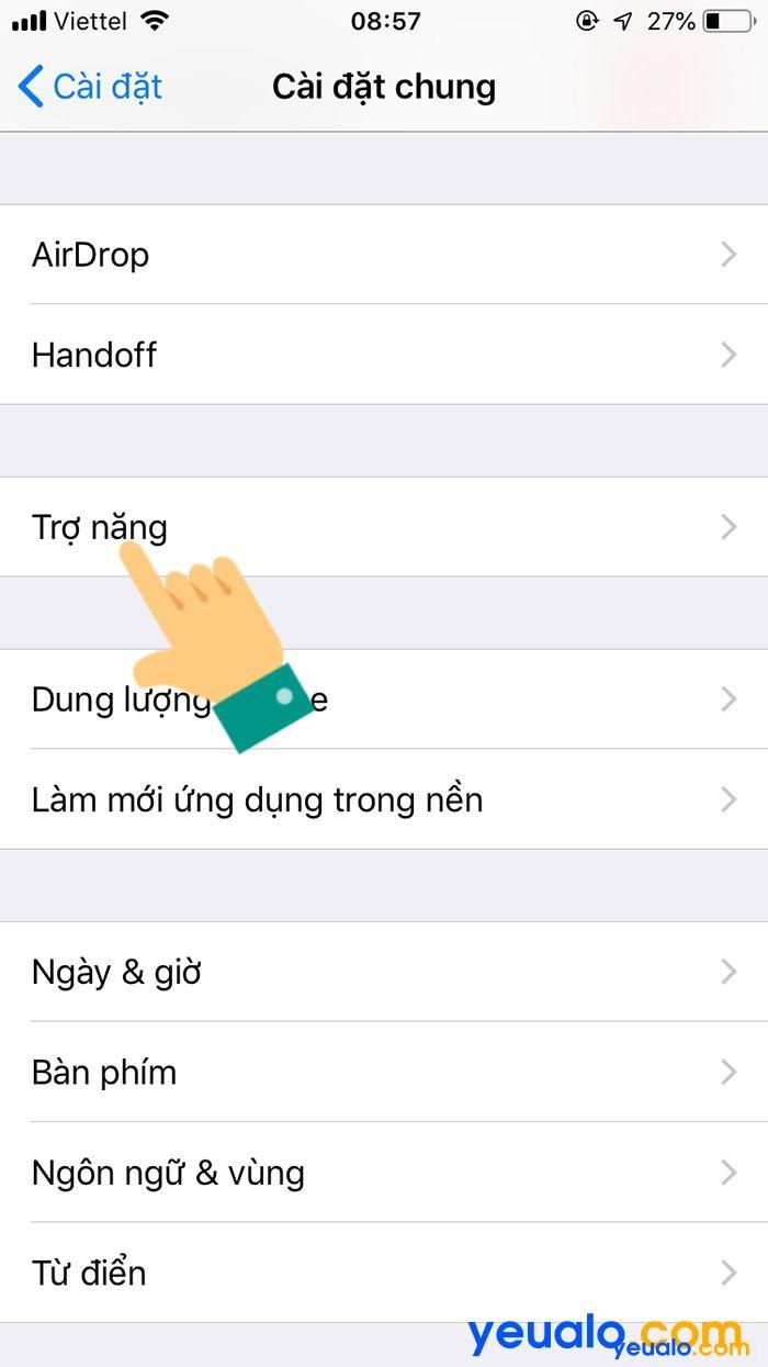 Cách Bật đèn Flash iPhone 6 khi có cuộc gọi đến 3