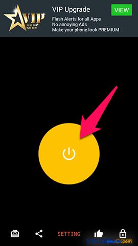 Cach bật đèn flash nháy sáng khi có cuộc gọi tin nhắn đến trên điện thoại Samsung Galaxy 5