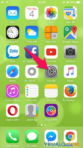 Cách bật nút Home ảo cho iPhone 1
