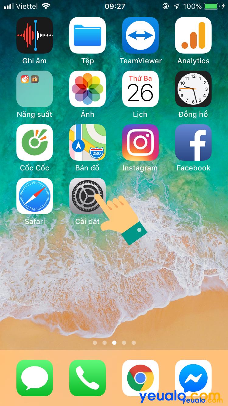 Cách bật nút home ảo trên iPhone 6