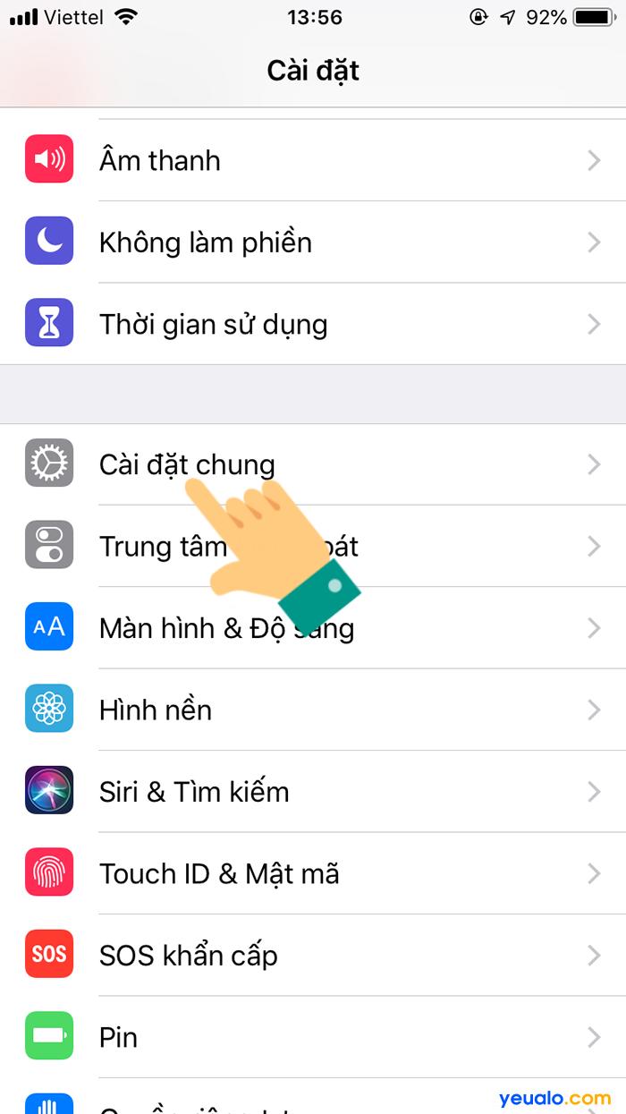 Cách bật nút home ảo trên iPhone Xr Xs Max 2