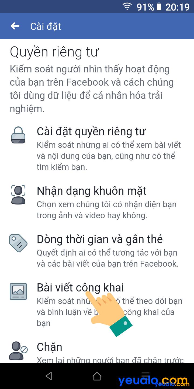 Cách bật nút theo dõi trên Facebook bằng điện thoại 3