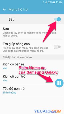 Cách bật nút Home ảo cho Samsung Galaxy 5