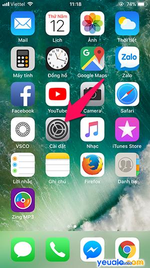 Cách Bật Tắt 3G trên điện thoại iPhone 1