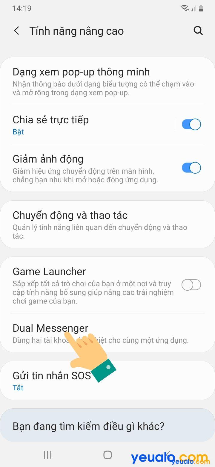 Cách bật tính năng Dual Messenger trên Samsung 3