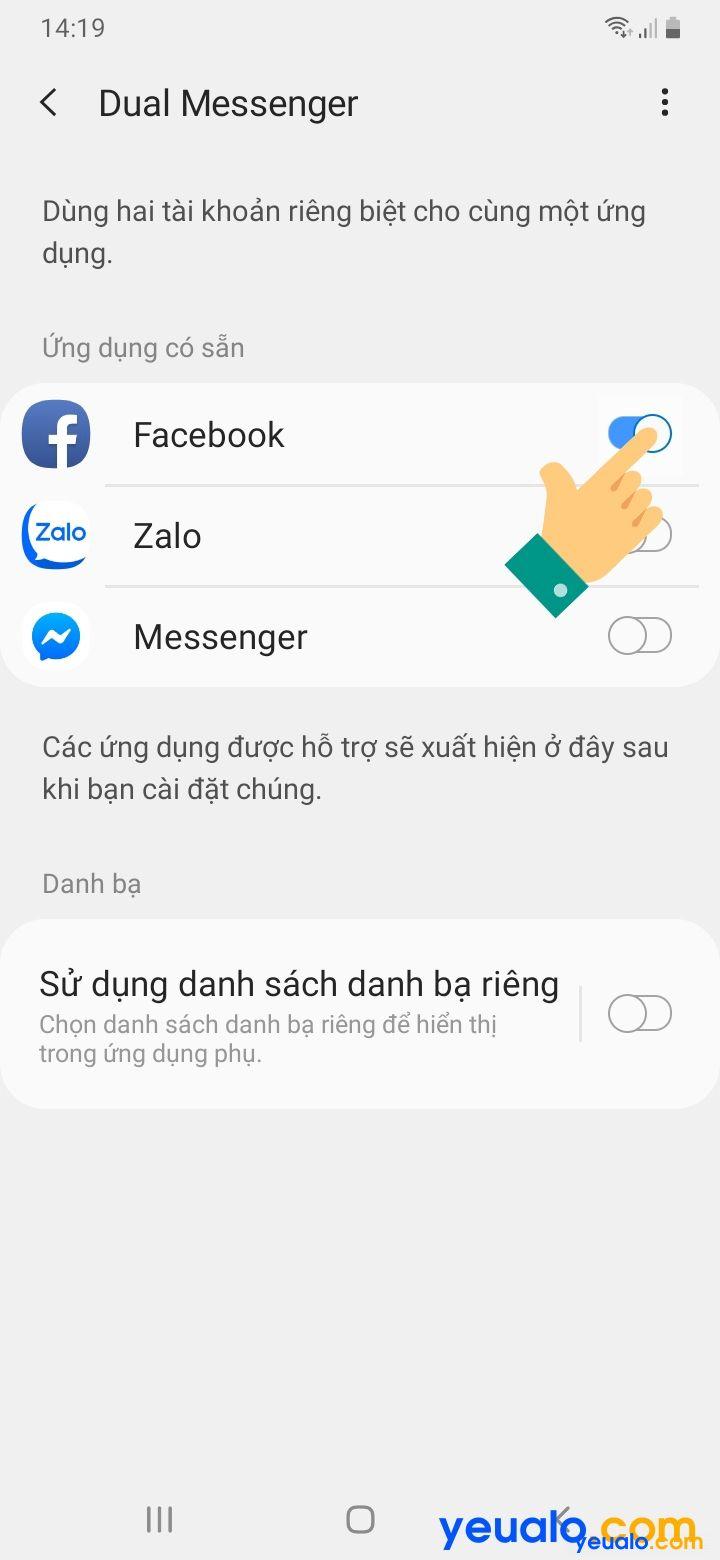Cách bật tính năng Dual Messenger trên Samsung 4