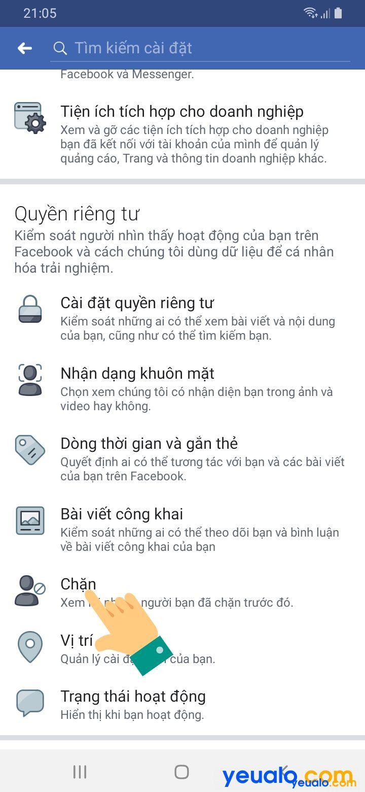 Cách bỏ chặn Facebook trên điện thoại 3