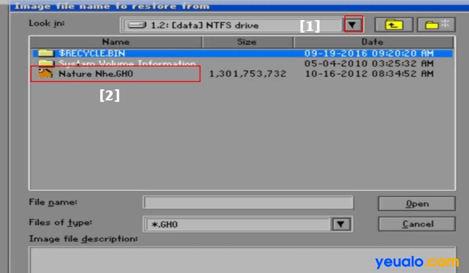 Hướng dẫn bung file Ghost bằng đỉa Hiren Boot 21