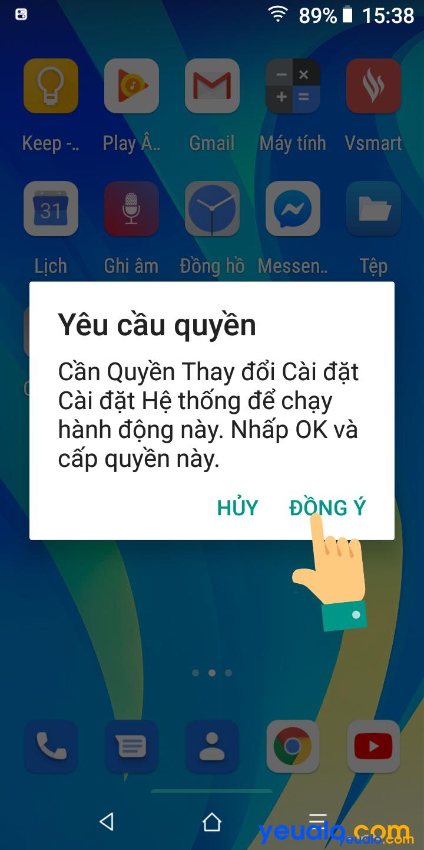 Cách cài đặt Control Center cho Android 6