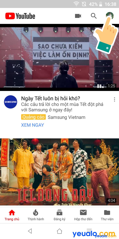 Cách cài giao diện tối cho Youtube trên điện thoại
