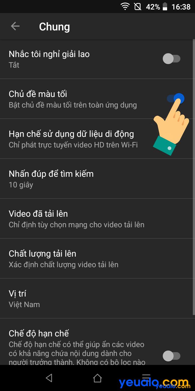 Cách cài giao diện tối cho Youtube trên điện thoại 4