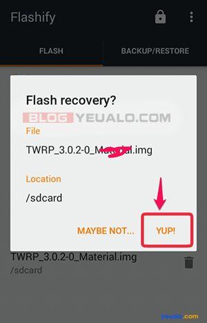 Cách cài đặt TWRP Recovery cho điện thoại Android không cần máy tính 7