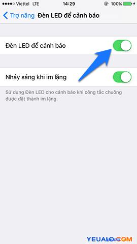 Cách cài đặt đèn flash nháy sáng khi có tin nhắn, cuộc gọi trên iPhone 5
