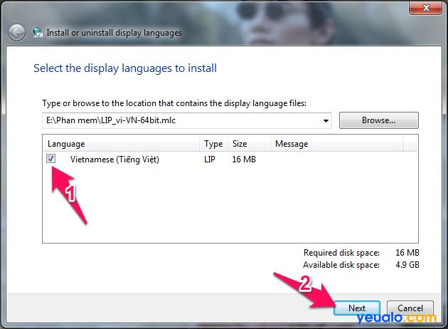 Cách cài đặt giao diện ngôn ngữ Tiếng Việt cho máy tính Windows 7 4