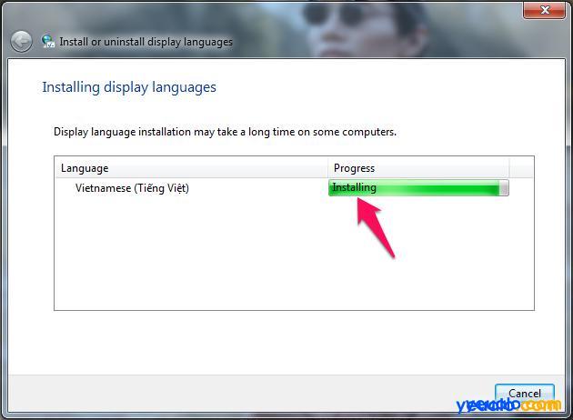 Cách cài đặt giao diện ngôn ngữ Tiếng Việt cho máy tính Windows 7 7