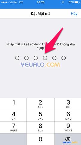 Cách cài mật khẩu mở khóa màn hình bằng vân tay trên điện thoại iPhone 5